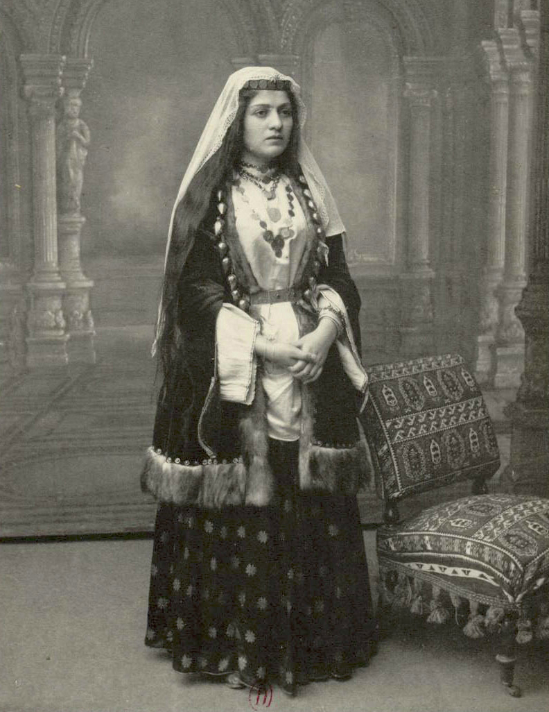Armenian woman in winter costume